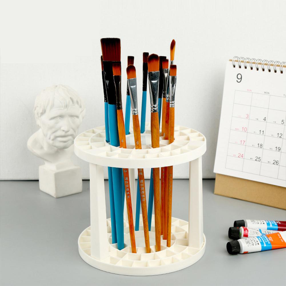 Adeeing Holes Display Stand Support Painting Brush Pen Holder For Drawing Art Supplies