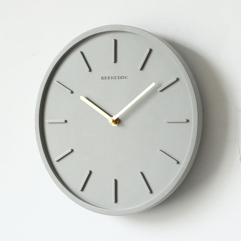 Nordic Creative Cement Wall Clock Bedroom Silent Quartz Clock Living Room Fashion Industrial Wind Decoration Clock