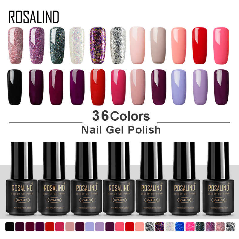 ROSALIND Gel Nagellak 7 ML UV Kleuren Gel van Nagels voor Nail Art Manicure Set Vernis Semi Permanente Hybrid gel Varnish Base Top
