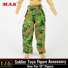 1:6 Action Figure Camouflage Clothes Pants Trousers Clothing Accessories Dragon DML Model WWII German Soldier Figure цены