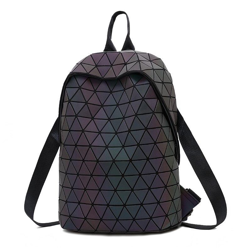 Luminous Backpacks Women Geometric Laptop Backpack For Men Shoulder Backpack School Holographic Rucksack Female Trave School Luminous Backpacks Women Geometric Laptop Backpack For Men Shoulder Backpack School Holographic Rucksack Female Trave School Bag