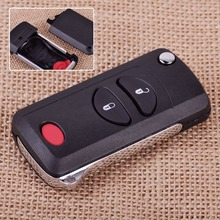 CITALL 3 Button Folding Flip Remote Key Keyless Shell Case FOB for Chrysler Voyager Town & Country Dodge Ram Jeep Grand Cherokee