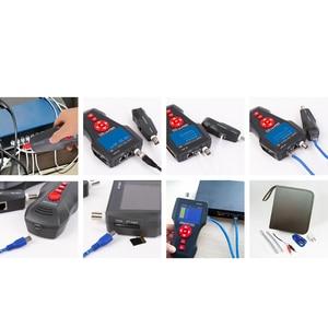 Image 5 - Oryginalny Noyafa NF 8601W Tester kabla sieciowego LAN LCD telefon wykrywacz kabli telefonicznych do testowania linii PING / POE BNC RJ45 RJ11
