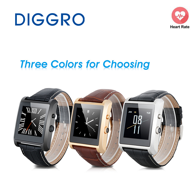 Smart Watch Diggro LF06 Mate Call Music Sedentary Reminder Pedometer Fitness Tacker for Android IOS with Camera Phone Watch