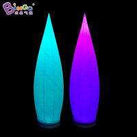 2018 Hot sale 2.5m high water drop shaped inflatable column with led lighting, water drop lamp inflatable toy
