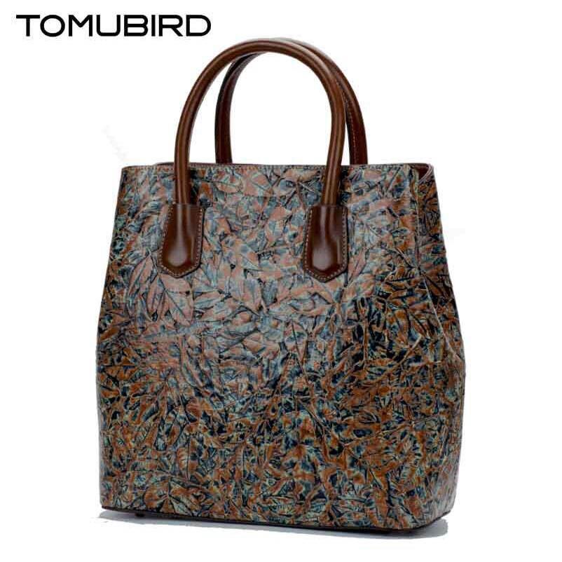 TOMUBIRD New women genuine leather bags handbags women famous brands Superior cowhide Original embossed women leather handbags