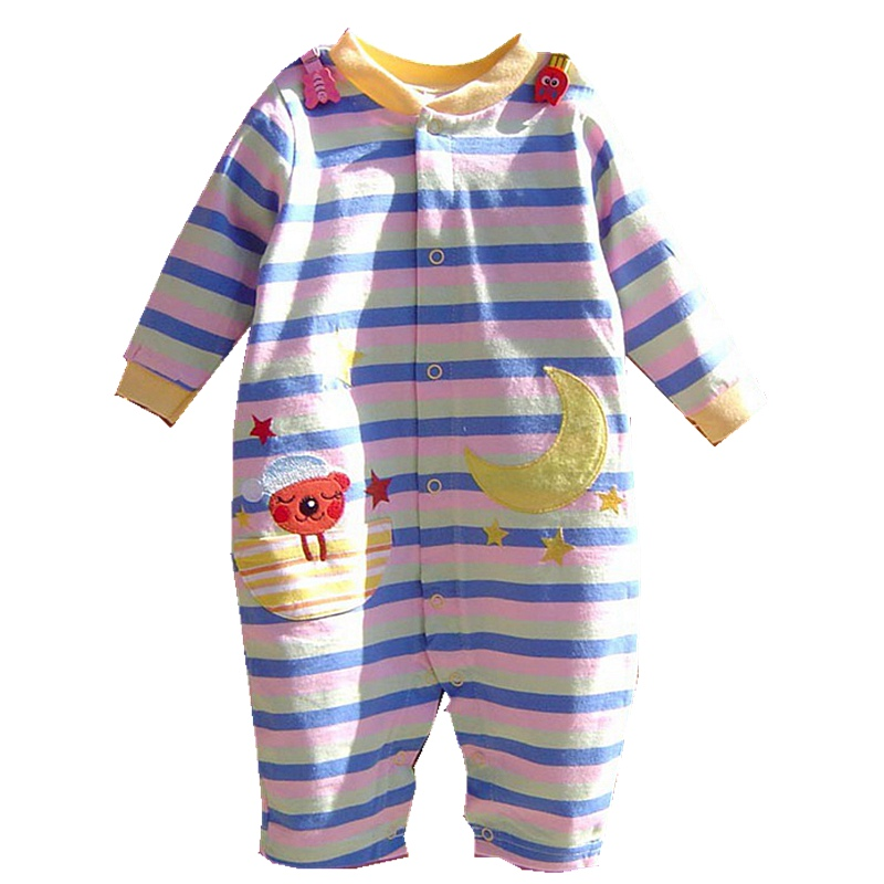 Cute Cartoon Animal Long Sleeve Baby Boy Clothes Baby Rompers Jumpsuit Newborn Clothing Infantil Menino Macacao Bebe Overalls cute minnie baby girl romper long sleeve baby clothes roupa infantil macacao ropa bebe jumpsuit baby rompers infant clothing