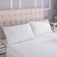 Grounded large stripe pillow case 50*75cm EMF protection Silver Antimicrobial Conductive Mat for Better Sleep