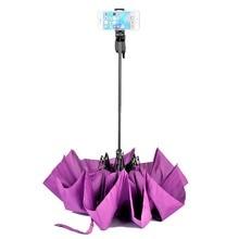 Digipod Umbrella Bluetooth Selfie Sticks 2 in 1 Adjustable Selfie Stick Umbrellas Remote Shutter for iPhone & Android