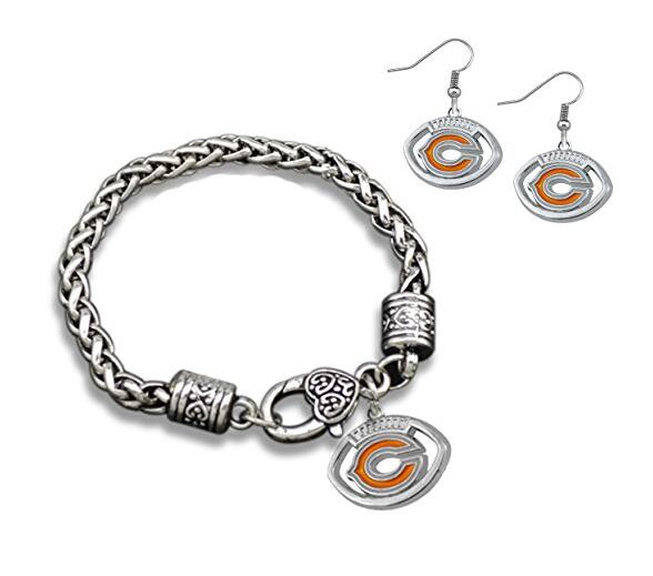 Chicago Bears Charm Bracelet Fashion Earrings Perfect Jewelry Gift In Sets From Accessories On Aliexpress Alibaba Group