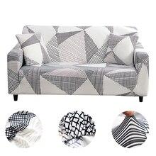 Ev kanepe kanepe Slipcovers ekose kanepe streç kapak kanepe oturma odası için Modern Slipcovers kanepe sıkı şal 1/2/3/4 kişilik