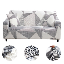 Home Sofa Couch Slipcovers Plaid Stretch Cover Covers For Living Room Modern Tight Wrap 1/2/3/4 seater