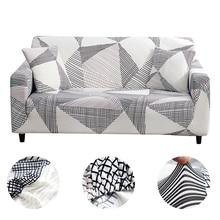 Thuis Sofa Couch Kussenovertrekken Plaid Bank Stretch Cover Sofa Covers Voor Woonkamer Moderne Kussenovertrekken Sofa Strakke Wrap 1/2/3/4 Zits