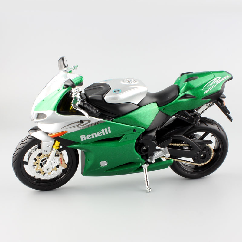 1:12 Childrens Benelli tornado tre 1130 green metal diecast models motorbike jouets mini car moto collectible toys for kids