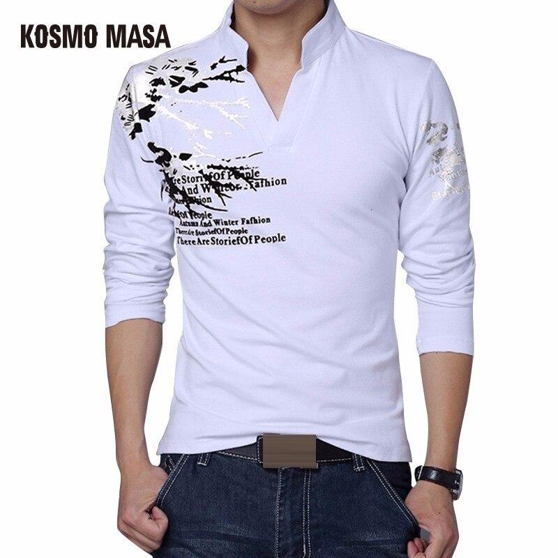 KOSMO MASA 2018 Coton V-cou Solide T-Shirt Pour Hommes Printemps Été Casual Complet Anime Hip Hop T-Shirts Hommes de Jersey T Shirt MC0300
