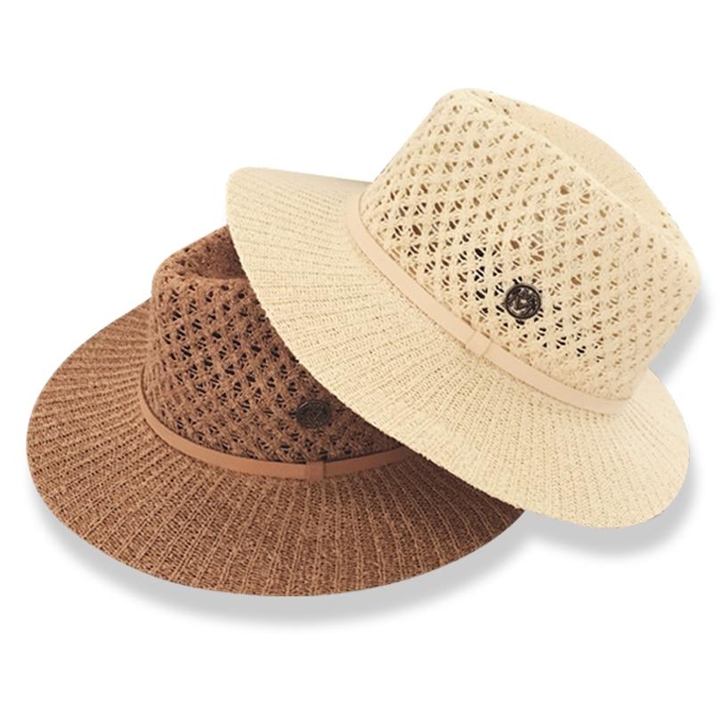 Ggomu Venta caliente sol sombreros para las mujeres la letra M ahueca hacia  fuera el sombrero de paja de verano moda vacaciones Tour playa sombreros  niñas ... 5d3a3de225c