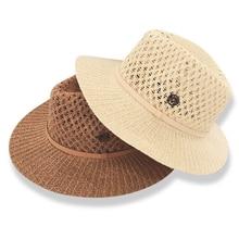 Dropshipping Venta caliente sol sombreros para las mujeres la letra M  ahueca hacia fuera el sombrero de paja de verano moda vaca. 547559135a4