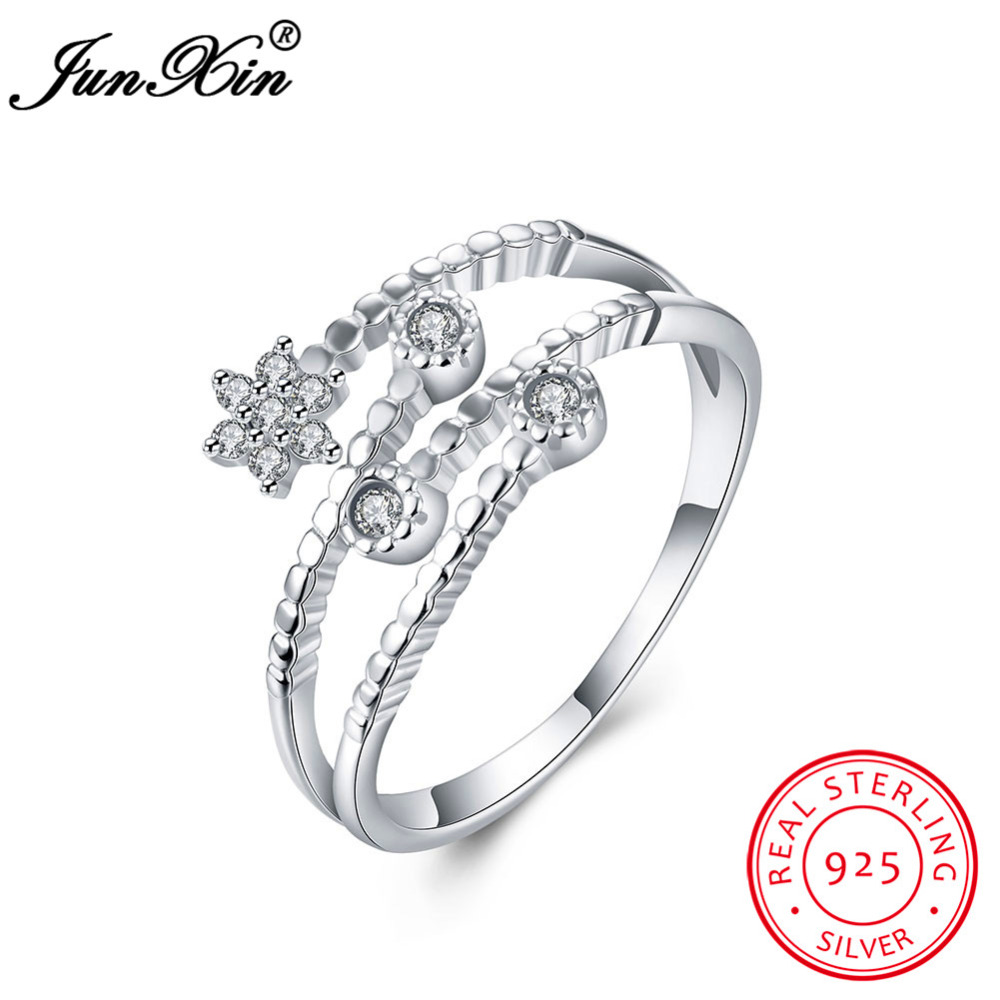 JUNXIN Unique Five Pointed Star Shape 100% 925 Sterling
