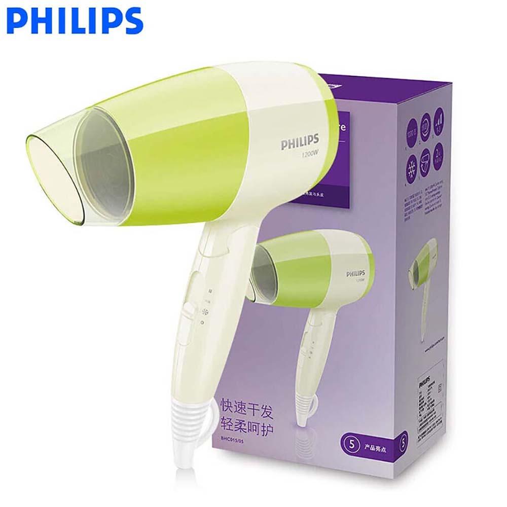 Philips Фен BHC015 высокое Мощность со складной ручкой холодного воздуха настройки 3 гибкая для бытовых Уход за волосами
