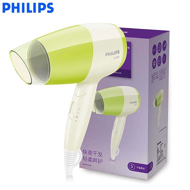 Philips Hair Dryer BHC015 High Power with Foldable Handle Cold Air Setting  3 Flexible for Household Hair Care 3e64e84e29