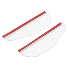 2 Pcs Universal Car Rearview Mirror Rain Cover Flexible Rain Shade Rainproof Blades Car Mirror Eyebrow Rain Cover Accessories