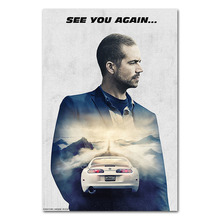 Fast and Furious 7 Movie Art Silk Poster Print 13x20 24x36 inches Paul Walker Pictures For Wall Decor 011