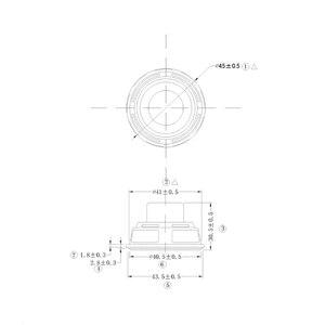 Image 2 -  1PCS Full Range Speaker 45mm 18 core 4 ohm 8 W NdFeB magnetic full frequency speaker  DIY Portable Bluetooth Speaker