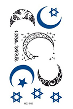 Rocooart HC151-175 Waterproof Fake Tattoo Styling Tools Stickers Snake Pistol Black Feather Temporary Tattoos Body Art Tattoo 61