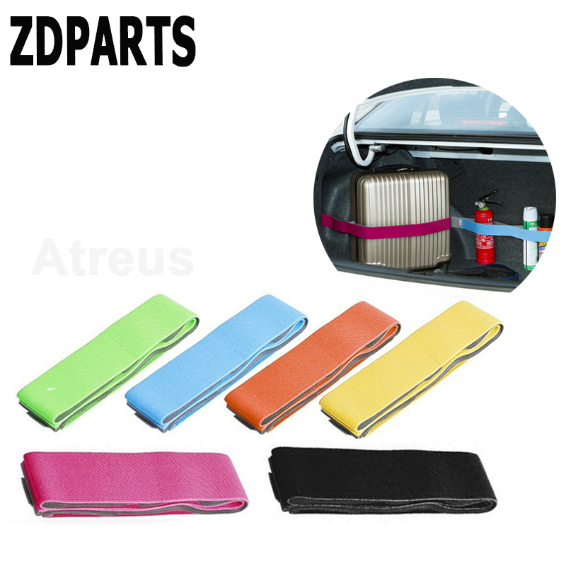 ZDPARTS 1X Car Crash Trunk Storage Fixed Strap Stickers For Volvo V70 S60 Xc90 Peugeot 307 206 308 407 207 Mini Cooper Volkswage ...