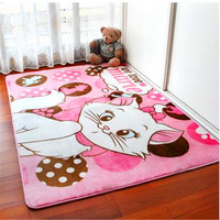 1Pcs Fashion Coral fleece Cartoon totoro bedroom carpet living room mat yoga mat tea table Lovely children room crawling mat