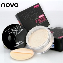 NOVO Luxury Face Pressed Light Powder Highlight Banana Loose Foundation Beauty Makeup Highlighter Powder