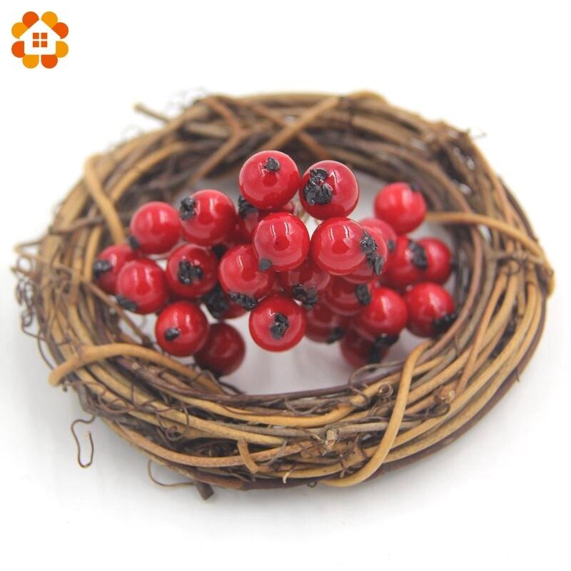 20 Unids/lote 1 CM Fake Suave Espuma Granada Frutas Pequeñas Bayas Estambre De I