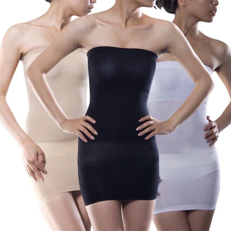 Women Sexy Full Tube Push Up Corrective Underwear Slim Overbust Women Seamless Overbust Tummy Bodysuit Tube shapewear dress