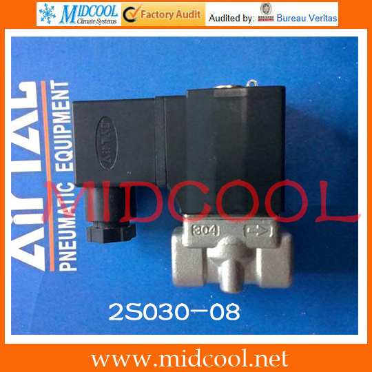 Original AirTAC Fluid control valve (2/2way) 2S Series (Direct-acting and normally closed) 2S030-08