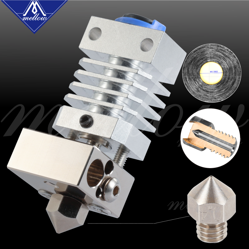 Mellow All Metal Cr10 Hotend Plated Copper Mk8 Nozzle & Heated Block 3D Printer J-head Hotend For Up