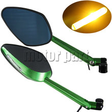Led Turn Signals Integrated light Rearview Mirrors For Kawasaki Versys 650 1000 Z900 Z800 Z750R Z650 W800 ER-6N ER-5 ZRX1200R