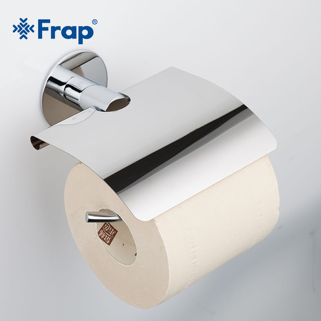 Frap Stainless Steel Cover Glue Paste Toilet Paper Towel Holder Mounting Seat Bathroom Hardware Accessorie F3803