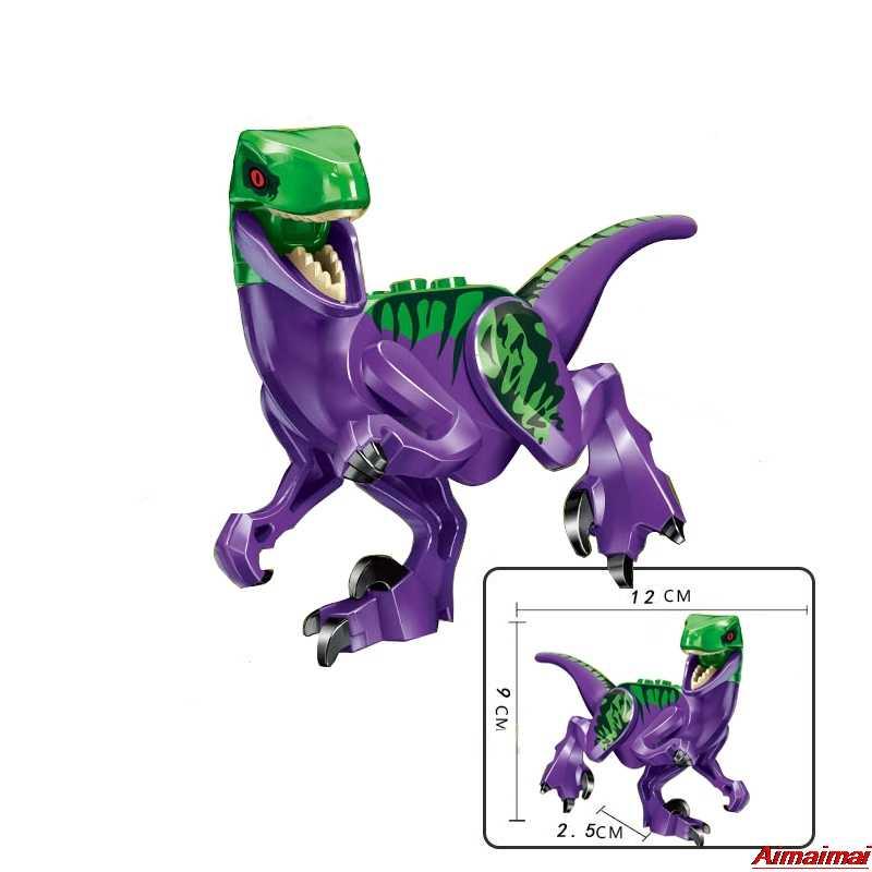 Legoing dinossauros jurássico parque mundial dinossauro raptor zona de proteção blocos de construção diy crianças brinquedo juguetes legoings animais conjunto