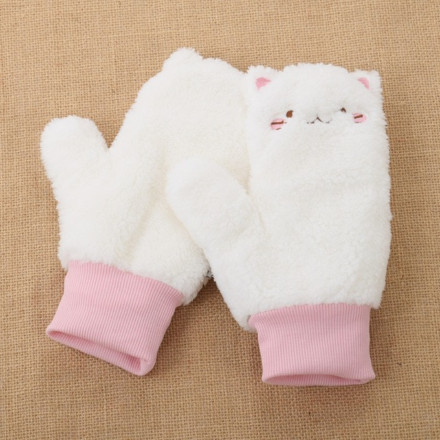 Winter Gloves Women White...