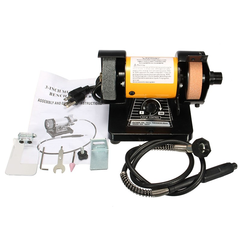 New Electric Mini Grinder Polishing Machine Grinding Machine Electric Bench Grinder Flexible Shaft Rotary Grinder Polisher Tool