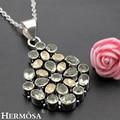 Hermosa Joyería Fascinante Peridot Morganite 925 Colgantes Collar de Plata HM213