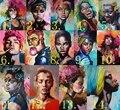 DIY картина по цифрам в африканском стиле женские портрет, холст, живопись Раскраска по номерам абстрактный Настенный декор Раскраска по ном...