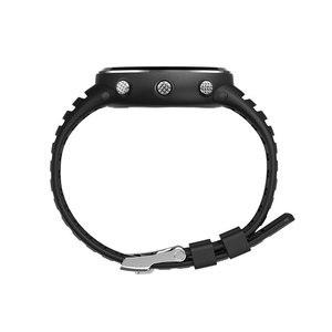 Image 5 - Ücretsiz Kargo Orijinal 25mm Siyah silikon kauçuk saat Kayışı Su Geçirmez spor saat Bandı WristsWatch Sunroad FR802 FR720