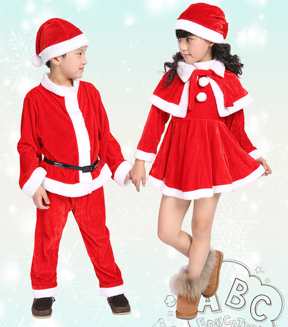 8b1314543ab84 US $33.38 |Thick Fleece Kids Christmas Clothes Sets Santa Claus Suit Bebe  Tops+Pant 2pcs Boys Girls Children Clothing B5-in Clothing Sets from Mother  ...
