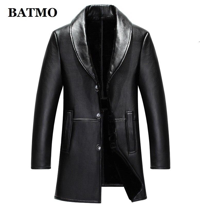 HTB1S71RajzuK1Rjy0Fpq6yEpFXaD BATMO 2019 new arrival winter high quality real leather fox fur collars trench coat men ,men's winter Wool Liner parkas AL18
