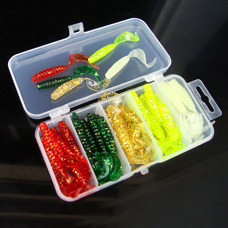 2018 Simulation Fish Arrivals 5cm 50pcs/set Fishing Lure Lead Jig Head Hook Grub Worm Soft Baits Shads Silicone Fishing Tackle 50pcs mix soft lure grub worm capuchin maggots fishing jig head hook bait set