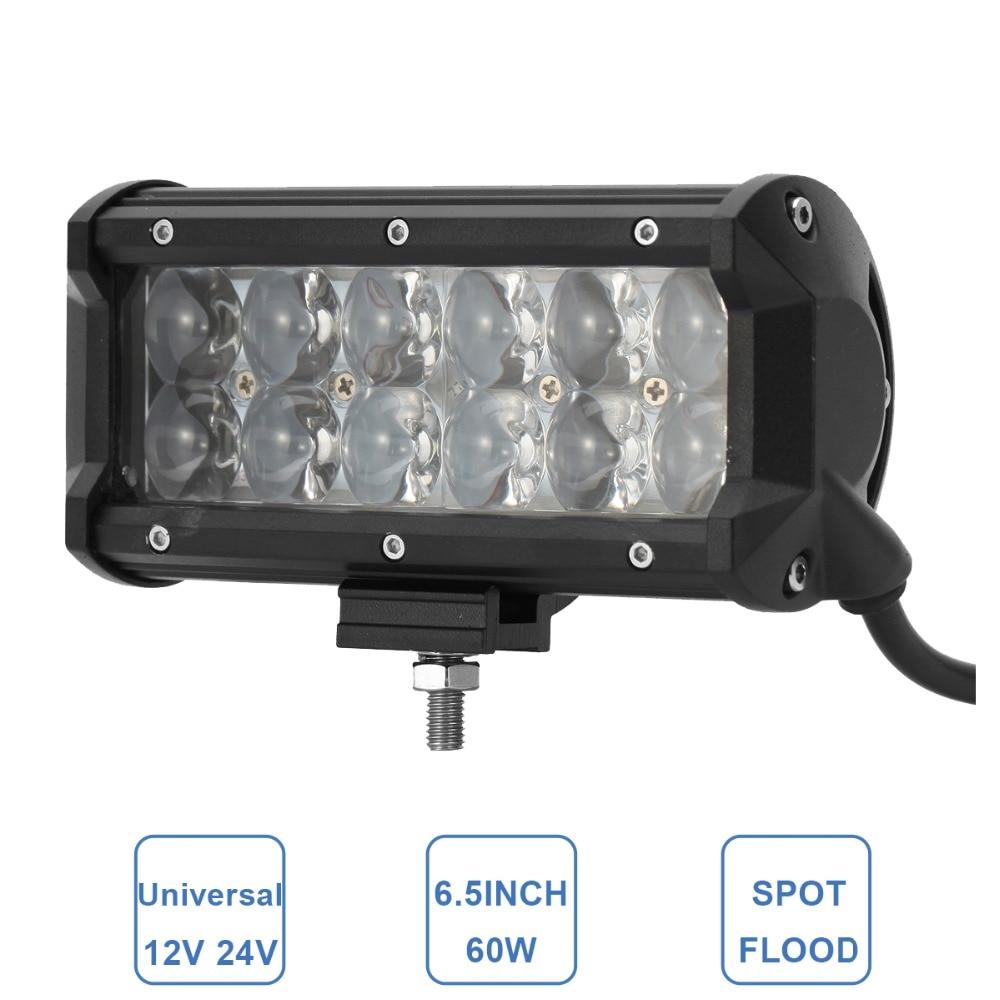 60W Offroad LED Arbetslampa 6,5 '' Bil ATV Trailer Camper - Bilbelysning - Foto 1
