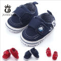 2017 Popular Non-slip Canvas Velcro Newborn Girl/Boy Baby Shoes Infant Baby First Walker Shoes Soft Soles Red/Navy blue11cm-13cm