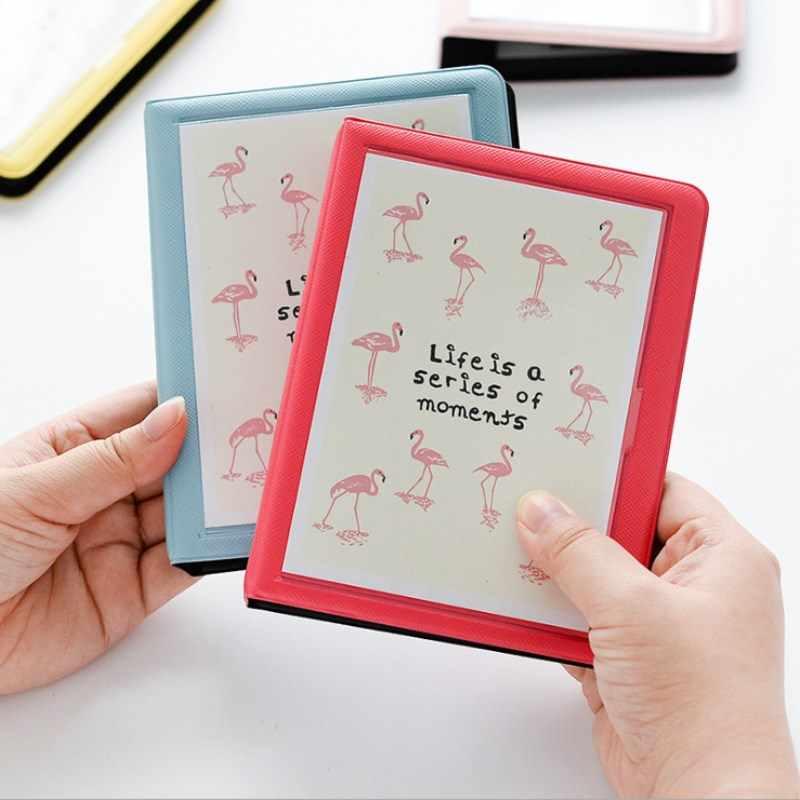 64 כיסי מיני מיידי פולארויד אלבום תמונות תמונה מקרה עבור 3 אינץ 5 אינץ זיכרון Scrapbook מיני פולארויד אלבום יום הולדת מתנה