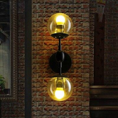 цена Magic Modo 2 Heads Wall Lamps For Restaurant Parlor Hotel Metal Iron Glass Vintage Dna Led E27 Wall Light онлайн в 2017 году